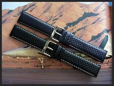 19mm Black XL Carbon Fiber nylon Sport GT watch band strap IW SUISSE 18 20 22 24