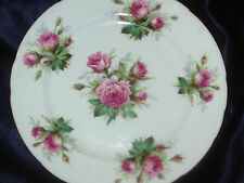 """HAMMERSLEY GRANDMOTHER'S ROSE 8"""" SALAD PLATE PINK ROSES NO GOLD TRIM FLOWERS"""
