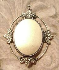 1820 - Antiqued Brass Oval Cab Setting Bezel Mount for 40x30mm Cabochon