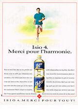 PUBLICITE ADVERTISING  1993   LESIEUR  huile ISIO 4  merci pour l'HARMONIE