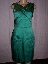 Kay Unger New York Emerald Green Satin Cocktail Dress Size 2  NEW
