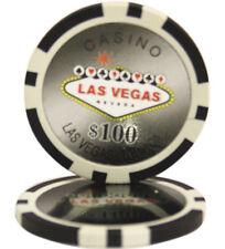 50pcs Las Vegas Laser Casino Clay Poker Chips $100