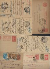 RUSSIA 1910 1930s COLLECTION OF 22 POSTAL CARDS & COVERS SOME UPRATED SEE SCANS