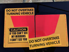 Do Not Overtake Turning Vehicle Truck Reflective 2 Metal Sign 300x300mm 3mmThick
