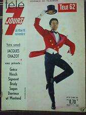tele 7 jours  n°  138 jacques chazot 10 novembre 1962