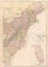 Florida Railroad Map.Florida Antique North America Railroad Maps Ebay