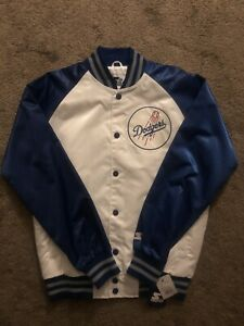 Los Angeles Dodgers Starter Jacket White/Blue size Large Mens NWT