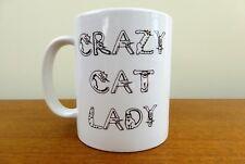 """Crazy Cat Lady' Novelty Mug - Kitty Body Letters - Funny Cat Lover Mug"