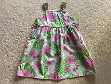 NEW GREEN PINK HAWAIIAN MUUMUU HULA BABYDOLL SUMMER SUN DRESS  GIRL SIZE 7