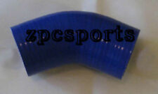 """2.75"""" (70mm) 45 DEGREE Silicone Pipe Coupler Hose Blue"""