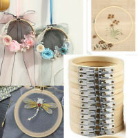 20 Pieces 3 Inch Bamboo Embroidery Hoops Round Wooden Circle Cross Stitch Wreath