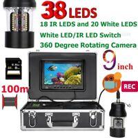 "9"" DVR Recorder 100m Underwater Fishing Video Camera Fish Finder IP68 Waterproof"