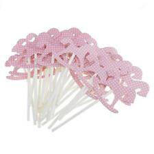 30pcs/Set Paper Horse Cupcake Picks Cake Toppers Party Baby Shower