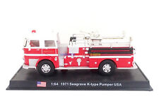 New 1:64 Diecast Fire Engine USA Seagrave K-Type Pumper 1971 Fire Truck Vehicle