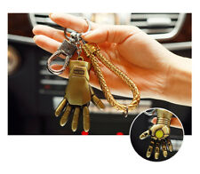 Iron Man Gold Hand Key chain Key ring Marvel Comics Superhero Trendy Fashion