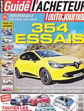 L'AUTO JOURNAL LE GUIDE DE L'ACHETEUR  2012 . 354 ESSAIS . 226 PAGES