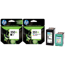2 GENUINE ORIGINAL INK CARTRIDGES  HP 351XL COLOUR + HP 350XL BLACK FAST POSTAGE