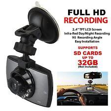 """2.4"""" Full HD LCD 720p Car Dash Cam Vehicle Loop Video Recorder Camera G Sensor"""