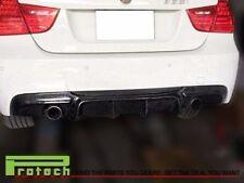 Big Fins Carbon Fiber Bumper Diffuser fit 06-11 BMW E90 323i 325i 328i 330i 335i