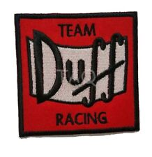 THE SIMPSONS TEAM DUFF RACING  Embroidery iron on / sew on patch