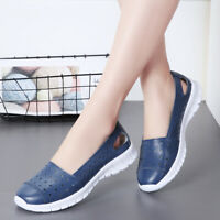 Women's Leather Moccasins Flats Casual Driving Loafers Shoes Casual  Comfortabl