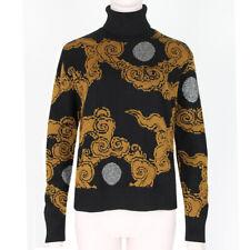 Dries Van Noten Runway Black Bronze Cloud & Moon Jumper Sweater XS UK6