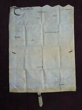 1646 VELLUM INDENTURE FROM REIGN OF KING CHARLES  WAX SEAL