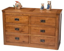Oak Unbranded Contemporary 6 Chests of Drawers