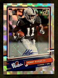 2020 Donruss Raiders Henry Ruggs The Rookies Rookie Auto Autograph /199 RC SP