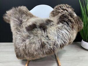 Sheepskin Rug Pelt / Genuine Natural  Beige Sheepskin Pelt Soft Seat Cover Throw