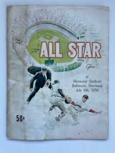 1958 All-Star Game Program Memorial Stadium Baltimore Scored in Pencil Very Good