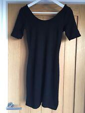 Ladies Black Body Con Mini Dress By H&M Size 34 8UK
