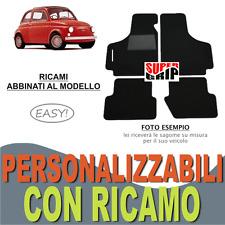 TAPPETI AUTO SU MISURA PER FIAT 500 EPOCA MOQUETTE FONDO IN GOMMA + RICAMO EASY