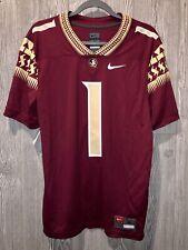 Florida State Seminoles Nike FSU 1 NCAA Football Jersey Mens Size Large