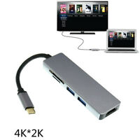 Type C USB-C to HDMI TV Projector 4K w/ 2 USB 3.0 SD TF Card Reader HDTV Adapter