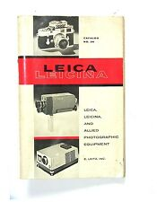 Great Old Vintage E.LEITZ LEICA LEICINA SALES CATALOG NO. 36, 1961