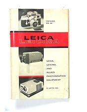 Great Old Vintage E.LEITZ LEICA LEICINA SALES CATALOG NO. 36, 1961