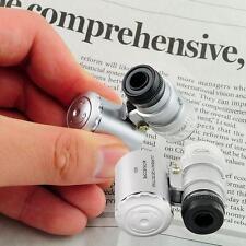 60x Handtaschen -Mikroskop Juwelier-Vergrößerungsglas-Lupe mit LED-Licht GE