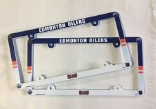 Lot of 2 Edmonton Oilers Car Truck License Plate Frames NEW - THIN PROFILE