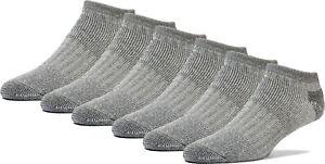 FUN TOES Lightweight Merino Wool All Season Low Cut Hiking Socks - 6 Pairs