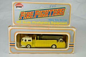 "Model Power Yellow #77671 Aerial Bucket Ladder Fire Truck 4 5/8"" Long Mint/Box"