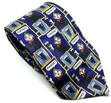 """Andy Capp Vintage para Hombres Corbata Azul Hombre Beba Poliéster 3.75"""" de ancho 63"""" longitud"""