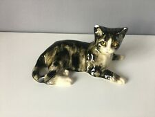 Jenny Winstanley Tabby Cat With Glass Etes, Signed - Damage to Ears