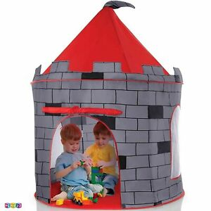 4.5FT Tall Round Kids Fun Multicolor Castle Theme Camping Play Tent in Carry Bag