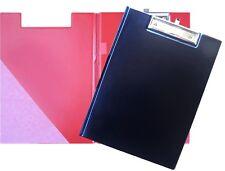 1 Klemmbrett A4 Klemmplatte Mappe mit Deckel Schreibunterlage Clipboard schwarz