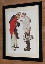 """Norman Rockwell encadrée Imprimer-laitier et couple -12 """"x16"""", Rockwell Mur Art"""