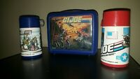 GI JOE LUNCH BOX 1986 WITH THERMOS PLUS EXTRA THERMOS VINTAGE 😎GREAT DEAL!