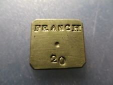 FRANCIA PONDERAL COIN WEIGHT 20 FRANCS - 20 FRANCOS 6,45 g