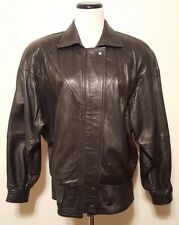 Vintage Michael Hoban North Beach Leather Women's Black Leather Coat 80's