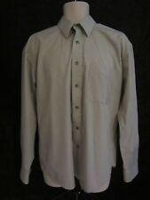 Yves Saint Lauren Long Sleeve Button Front Shirt - Beige - Men's 16 - 34/35